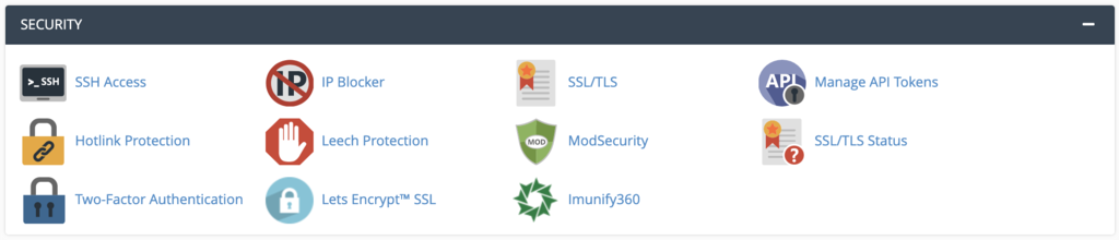cPanel security features